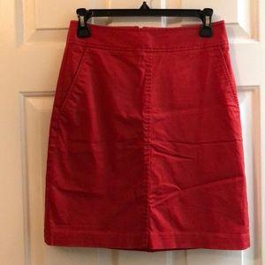 Reddish-Orange Pencil Skirt by Trina Turk